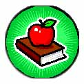 apple sitting on books
