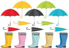 umbrellas and boots